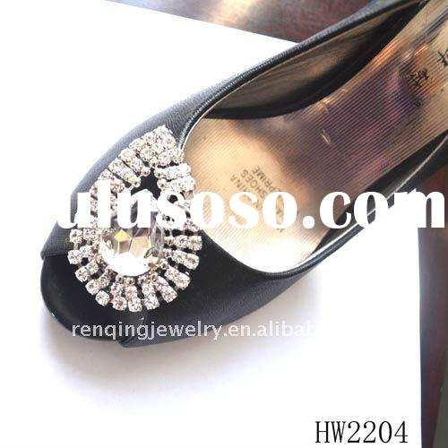 new design Crystal rhinestone clips on lady shoes &decorative shoe clip & shoe ornament &