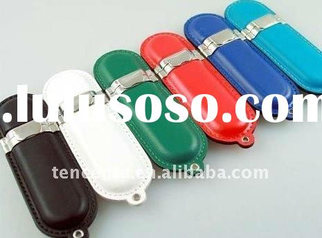 oem high quality leather usb flash memory usb 3.0 with key chain