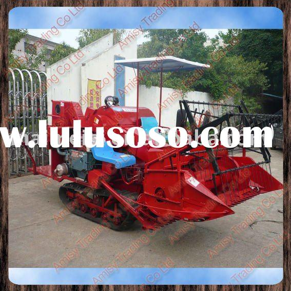 paddy rice harvest machine/rice wheat grain combine harvester/small rice harvest machine