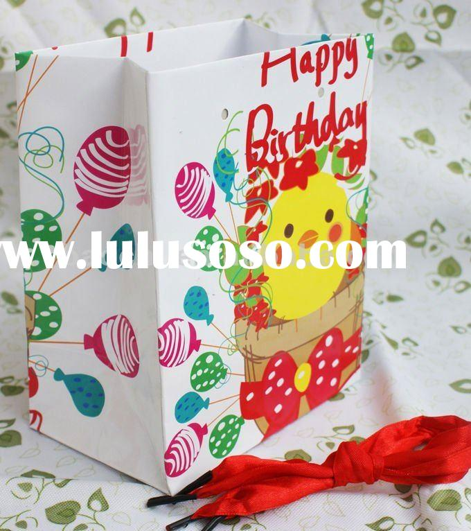 paper bag making machine price with red ribbon handle