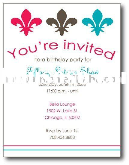Doc32002400 How to Write a Invitation Card How to Write a – Writing Birthday Invitations