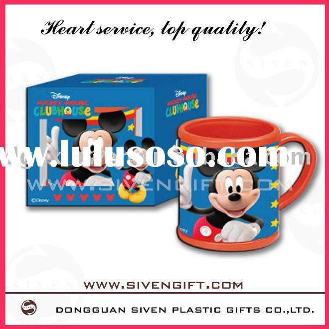 promotional cute kids plastic mugs with many colors