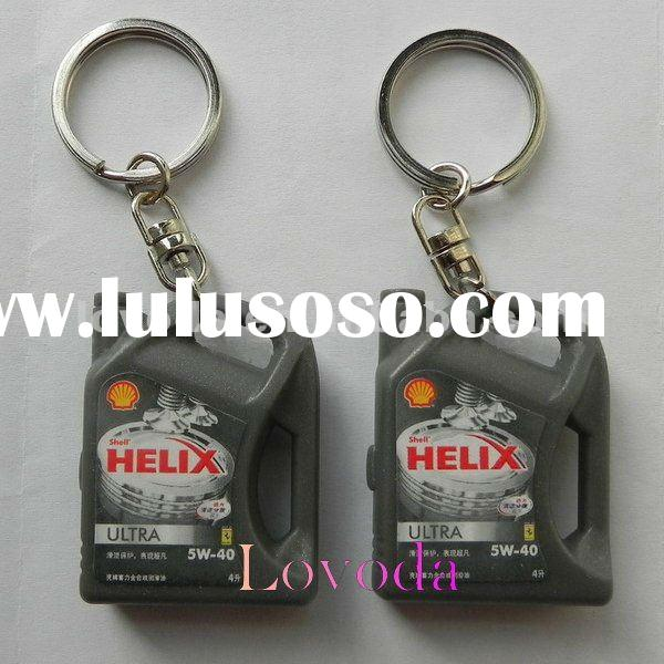 promotional led logo torch for oil company or gas company / car oil-bottle shaped led keychain JLP-0