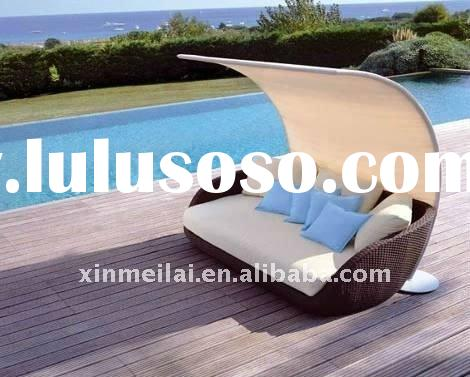 rattan lounger chair / sun daybed / rattan dining set / rattan bed