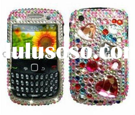 rhinestone cell phone case for blackberry curve 8520