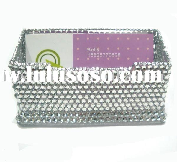 rhinestone namecard holder / jeweled name card box