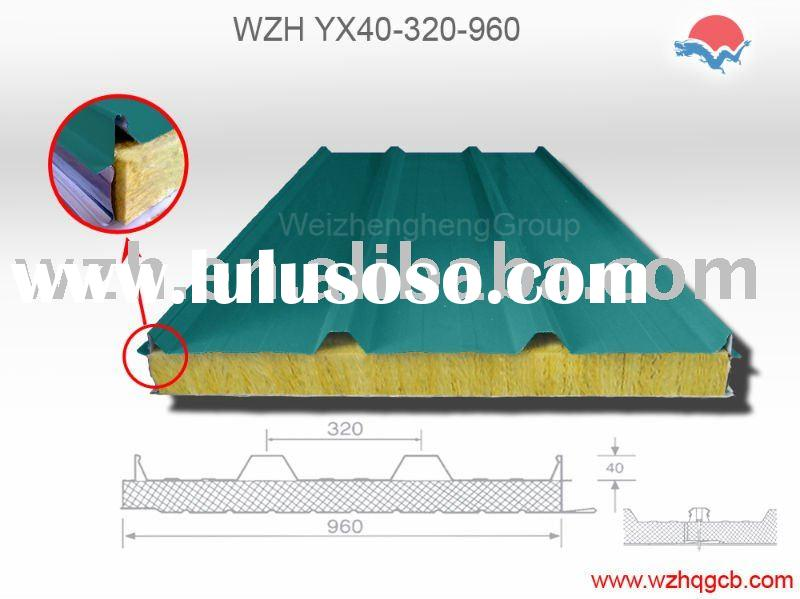 rockwool sandwich panel for roof and wall,exported to Europe, USA, Asia, South Africa and Austrialia