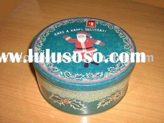 round can large tin box metal gift box festival food container