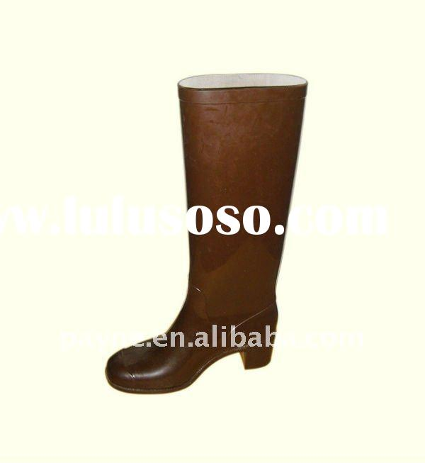 rubber high heel rain boots for women