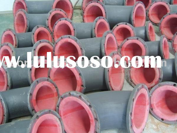 rubber lining pipe / elbow with wear resistance & corrosion resistance