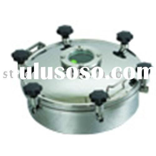 sanitary Tank manhole cover manway door with sight glass