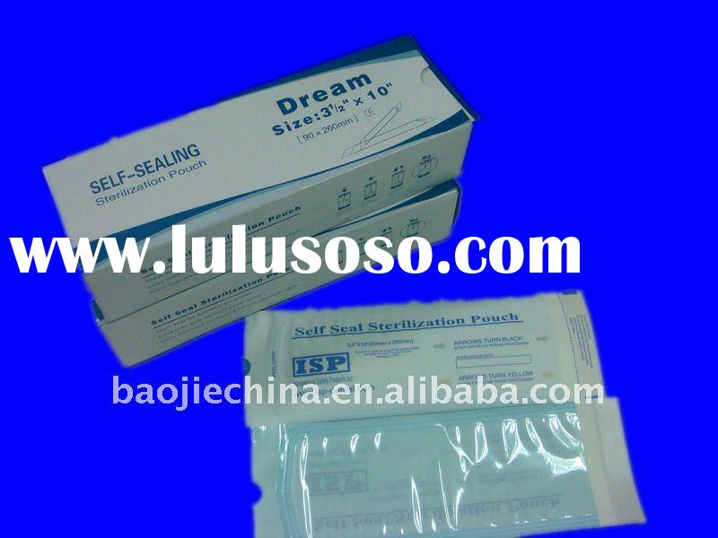 self seal sterilization pouches dental supply/medical plastic bags