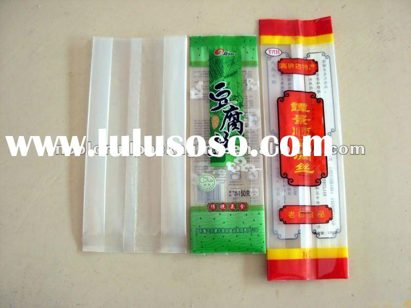 side gusset coffe and tea packaging bags transparent bag + printing