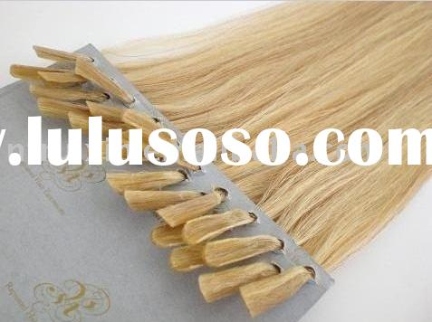 silky straight stick-tip hair extension/nail-tip human hair/hair products/hair extension