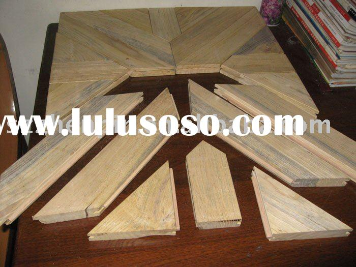 solid oak wood art parquet flooring tongue and groove joint system prefinished
