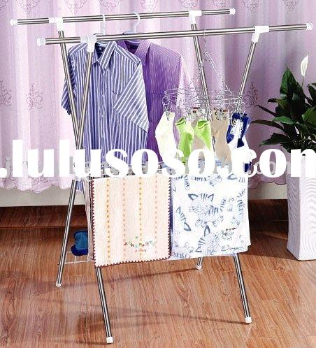 stainless steel rack/foldable hanger/telescopic rack/parallel-bars rack