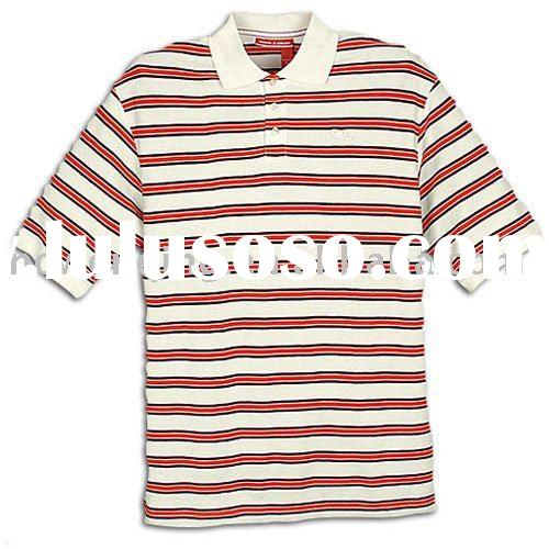 striped long sleeve polo shirt