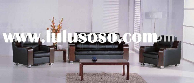 stylish and modern genuine leather office sofa set B27