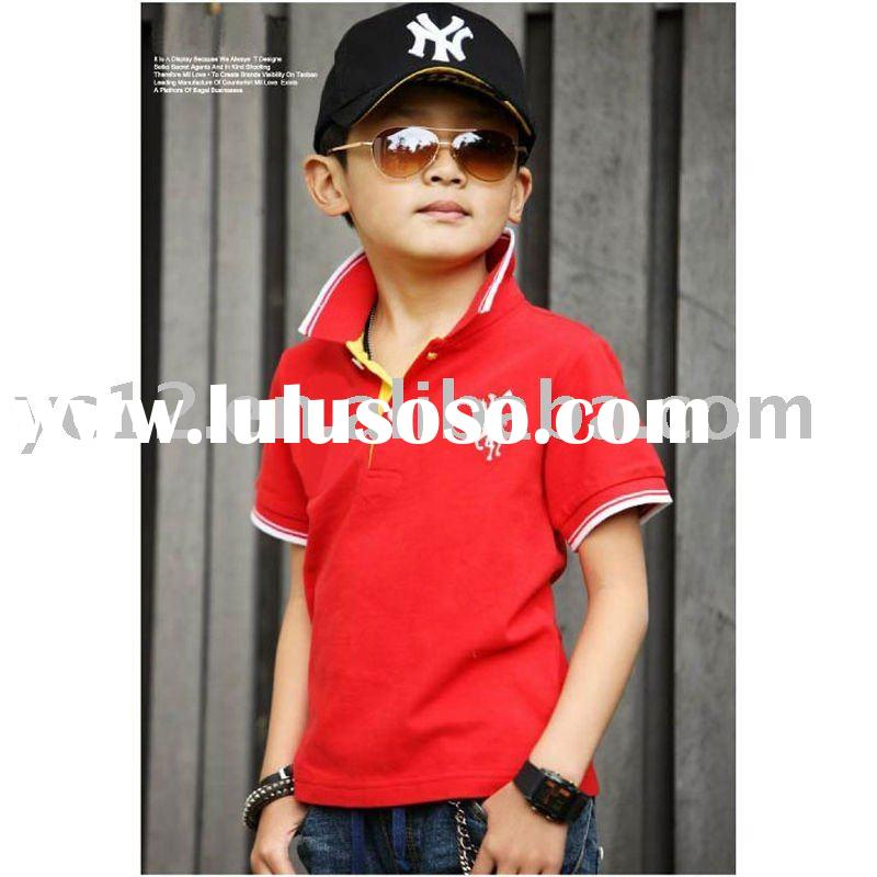summer 2011 fashion pattern short sleeve boy's polo T shirts
