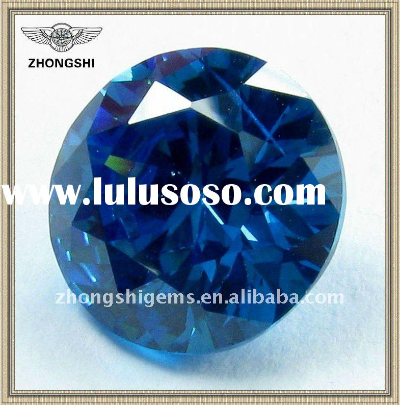 swiss blue brilliant round cut loose cubic zirconia stones