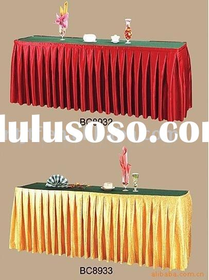 Table Clothing Design Tutorial table skirting cloth satin