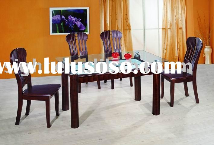 tempered glass dining furniture,wooden dining set for four people,wood dining table for 6 people