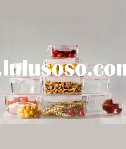 tempered glass food container