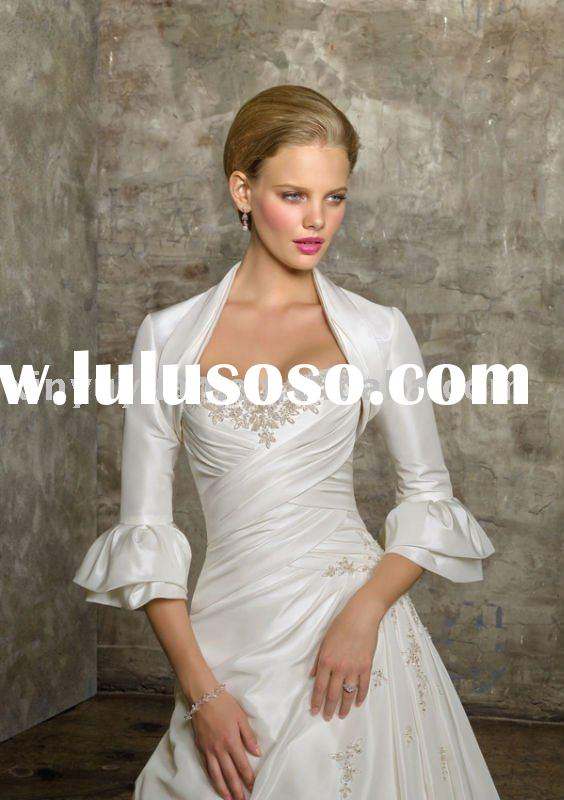 top fashion 2011 designer summer wedding dresses with jacket MLW-025