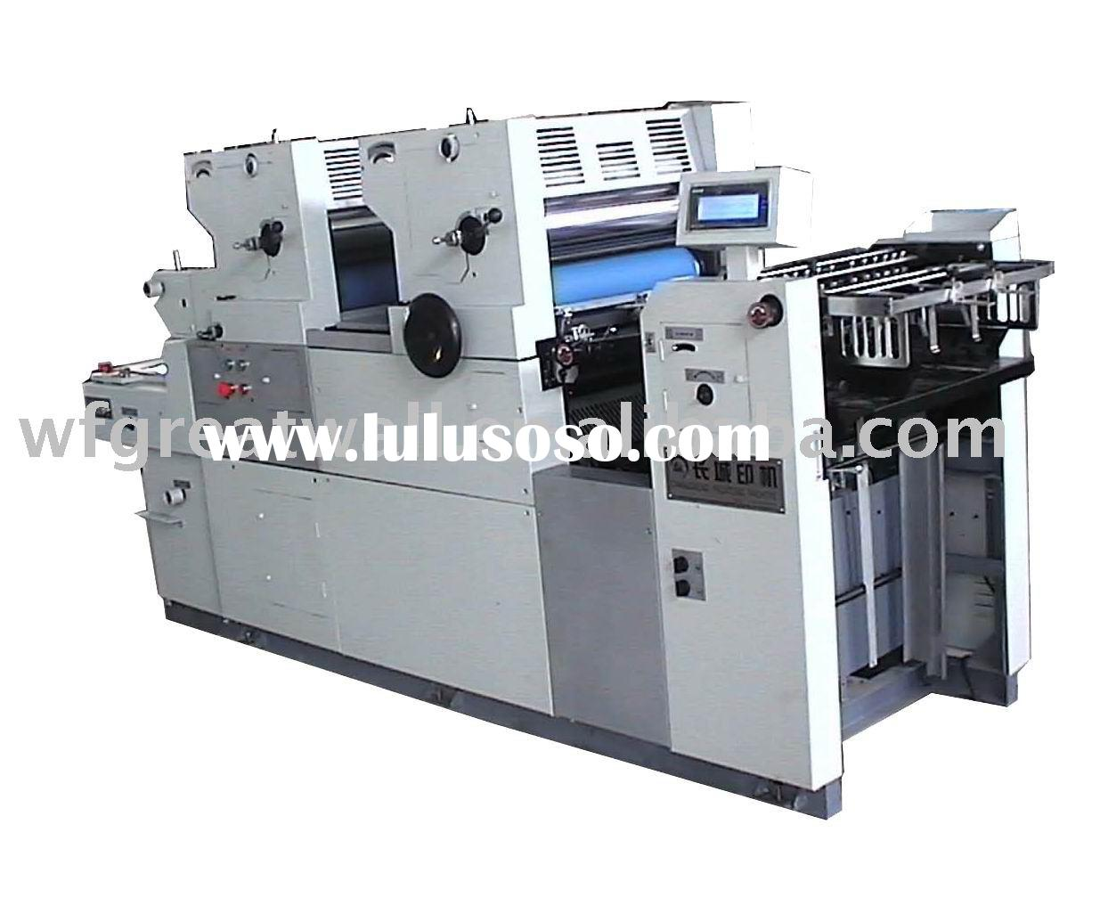 two color offset press/printing machine (supply technical support)