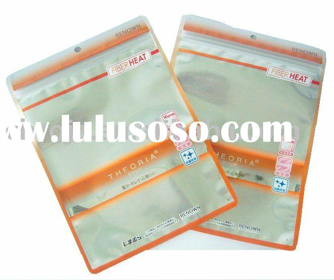 underwear packaging bag/underwear zipper ouch/plastic zipper bag for clothing/underwear pouch