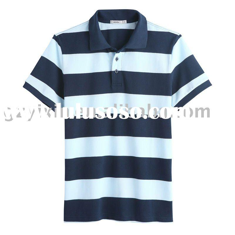 uniform polo shirt, casual with rib collar and cuff