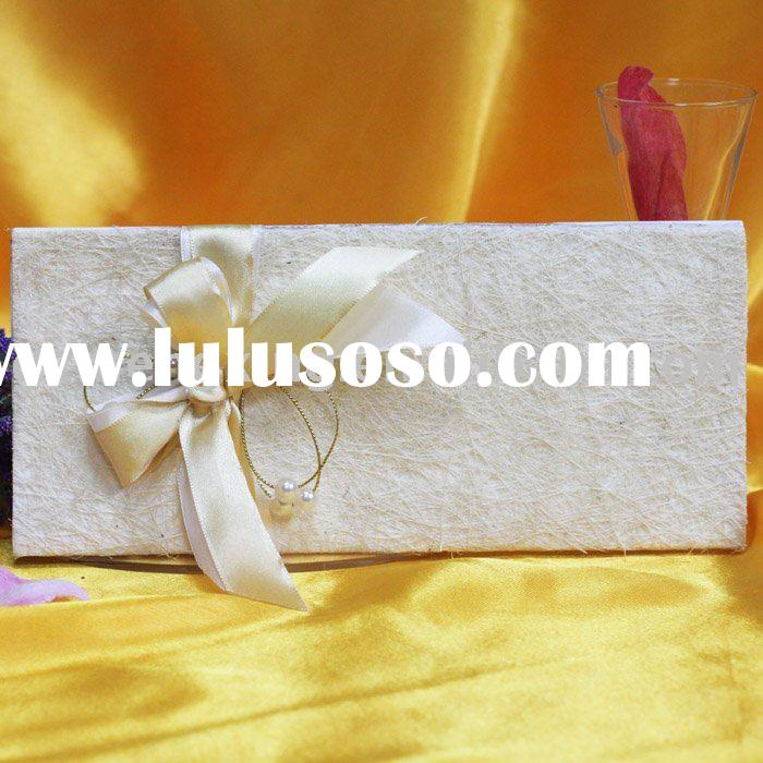 unique wedding invitation card with decoration -- T159