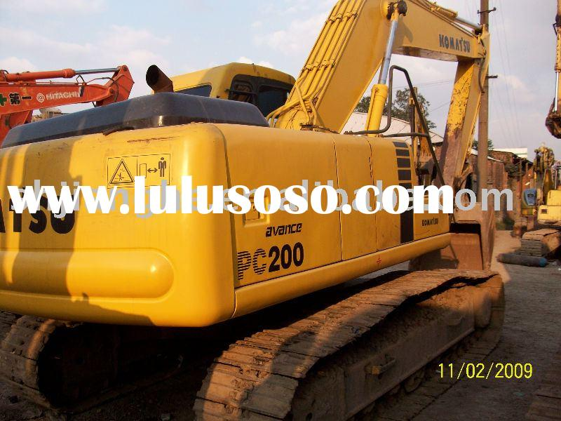 used Excavator KOMATSU PC200,used construction machines,used construction equipment