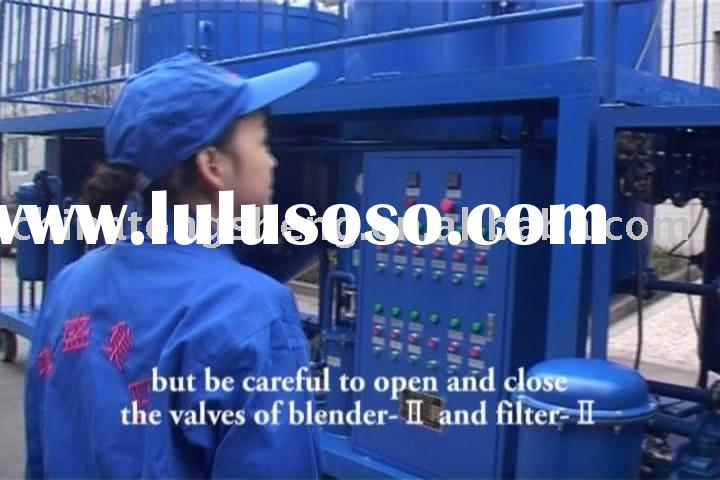 used car engine oil lubricants oil motor oil recycle machine -ZYD-I waste oil regeneration plant