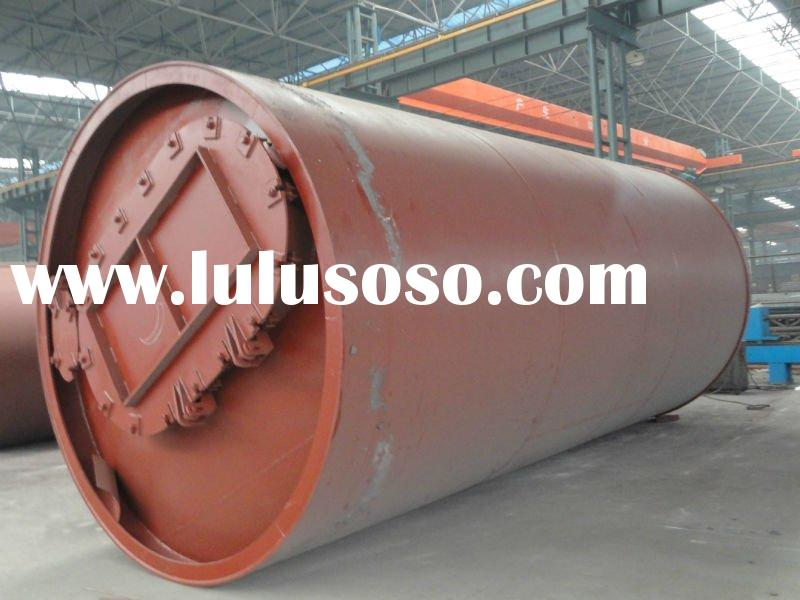 waste plastic tyre and rubber processing machine drawing oil form wast