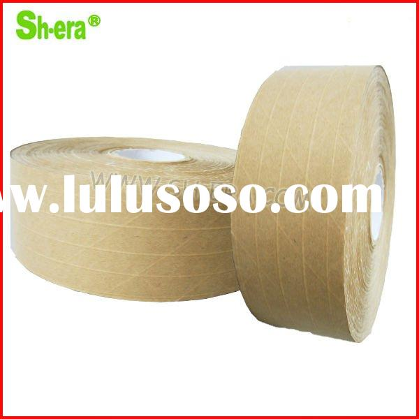 water activated reinforced fiber kraft paper tape