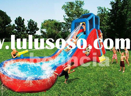 water amusement park, inflatable water park, swimming pool with slide