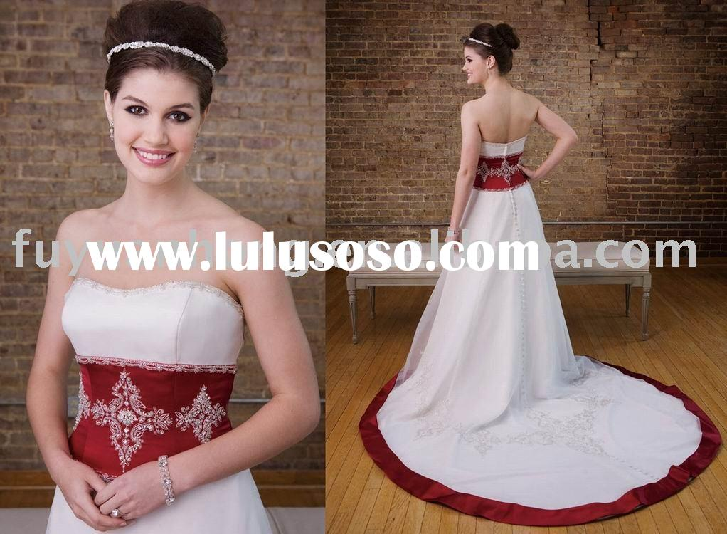 wedding gown red wedding dress bridal dress wedding gown