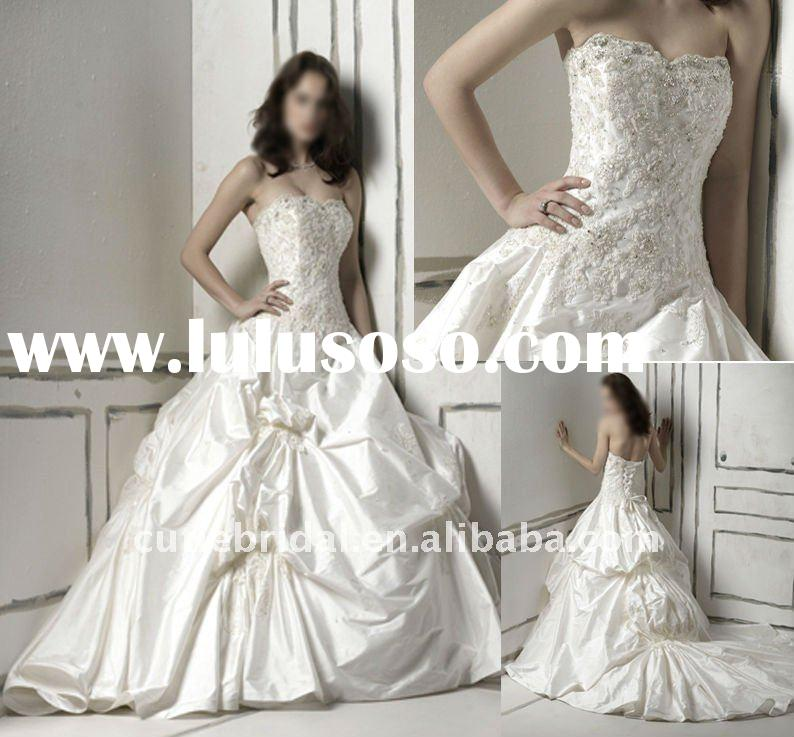 wedding gowns and bridal dress,romantic bridal wedding gown,unique wedding gown 10160