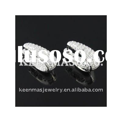wholesale 925 sterling silver jewelry, micro paved setting CZ hot