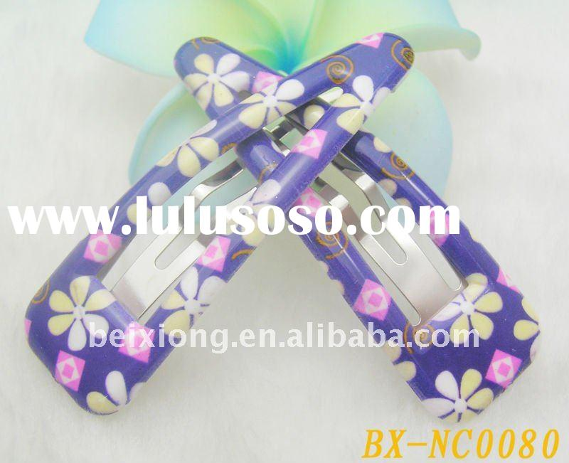 wholesale hair accessory ABS snap clip cute hairpins for baby girl drop hairclip purple hair jewelry