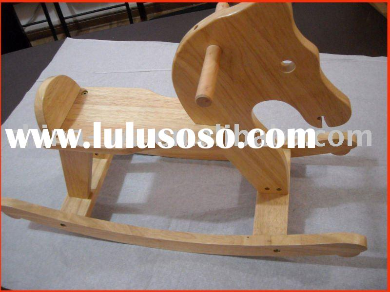 wood rocking animals chairs with horse shape for children