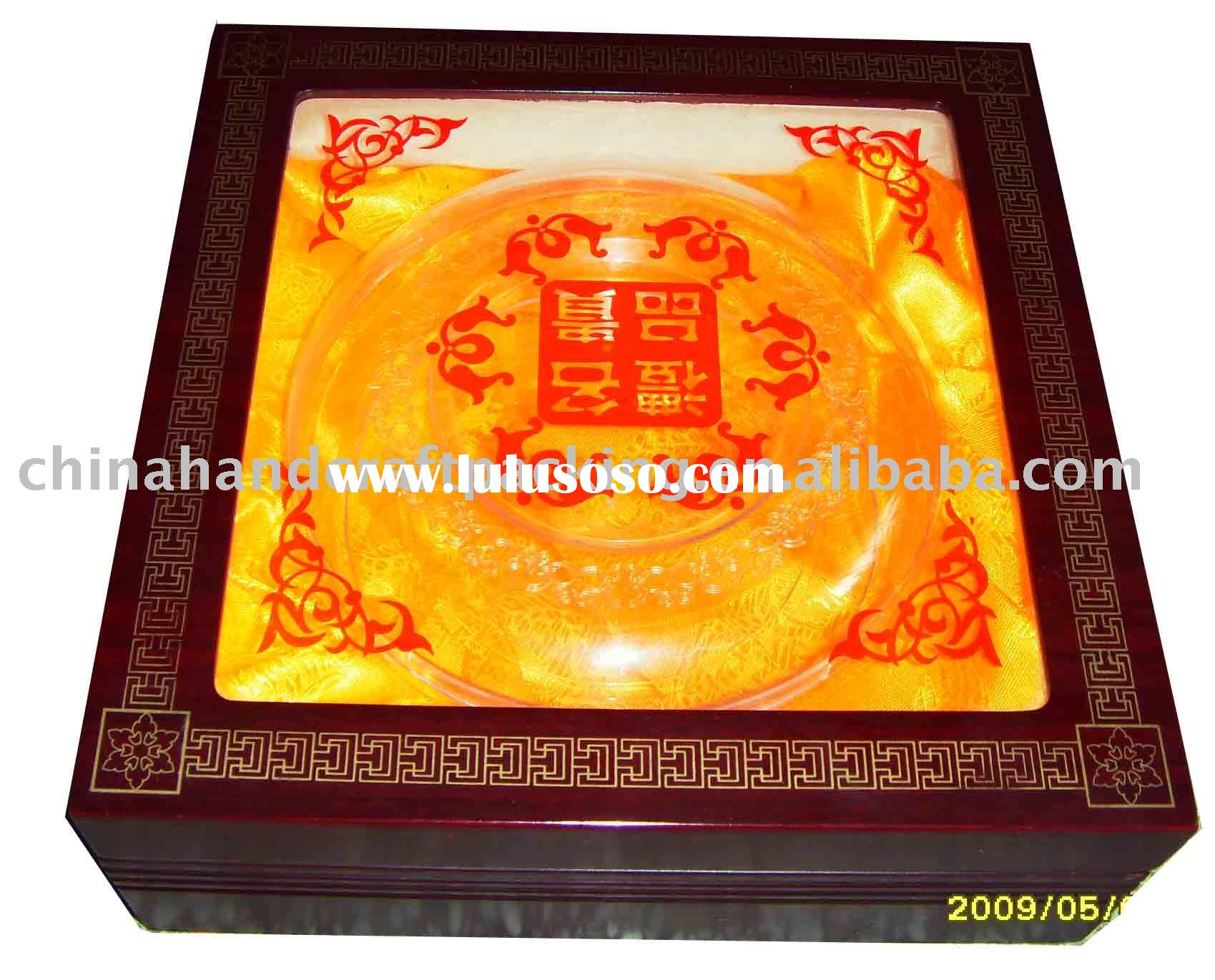 wooden gift packaging boxes with clear window