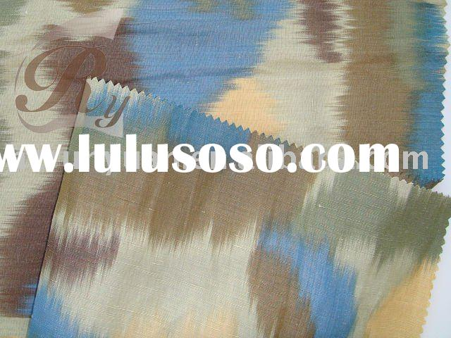 yarn dyed silk linen fabric