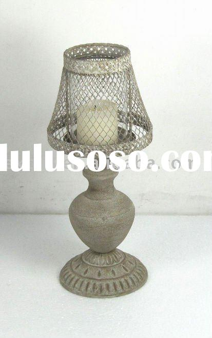 Lamp shade candle lamp shade candle manufacturers in lulusoso 090151aa metal table lamp candle holder wshade mozeypictures Image collections