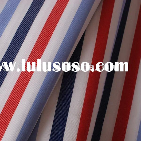 100% Cotton 50*50 ,150*90 yarn dyed stripe shirting fabric(high quality for business shirt)