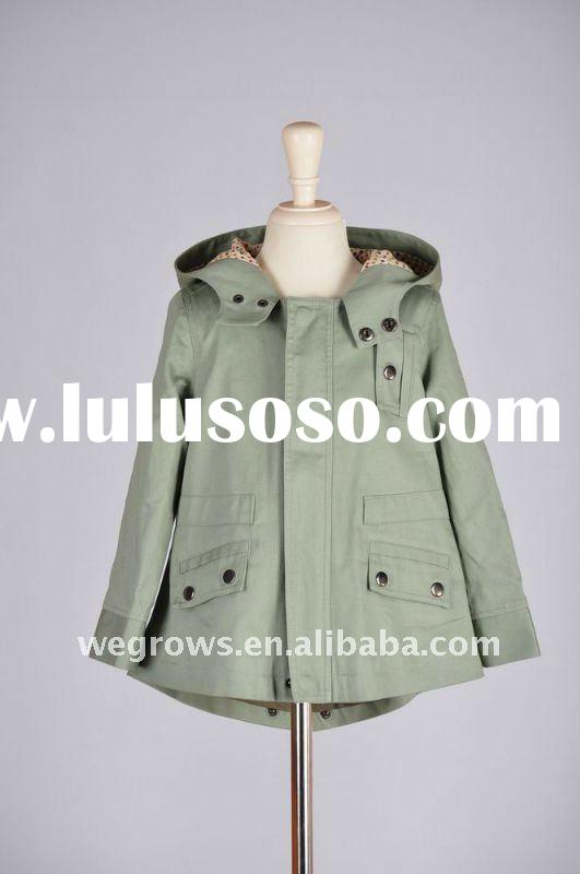 100% Cotton Green/Grey Timeless Boys Winter Coats,baby clothes,child clothing,kids coat