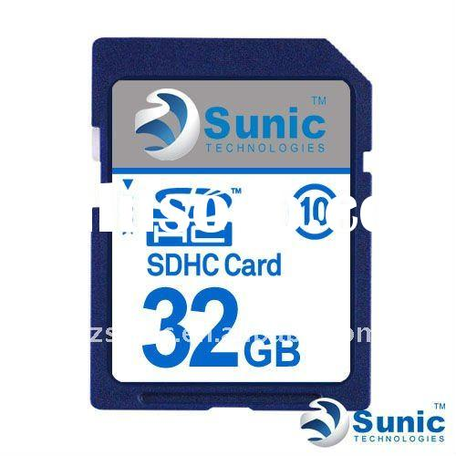 100% Full capacity High Speed 32GB SDHC memory card class 10