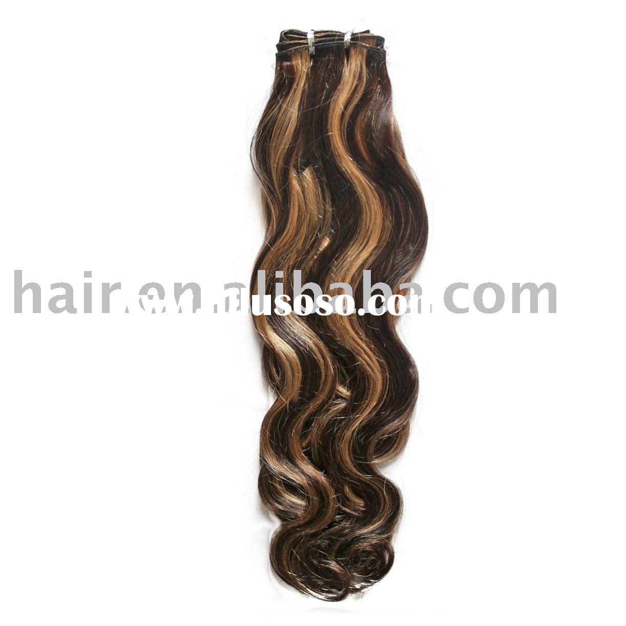 100%Human Hair Weave Hollywood Weave Hair Weave 100%Remy Hair/European Hair/Artificial Hair