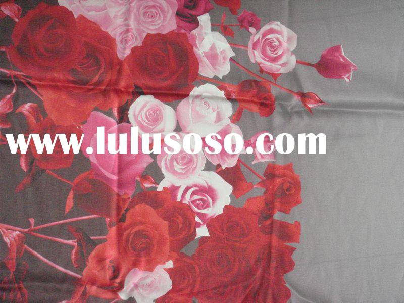 100% PURE SILK SATIN FABRIC IN DIGITAL PRINTED